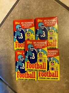 1985 Topps Football Wax Packs (5) Unopened