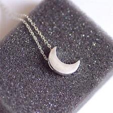 Fashion Women Silver Chain Crescent Moon Pendant Necklace delicate Jewelry GIFT