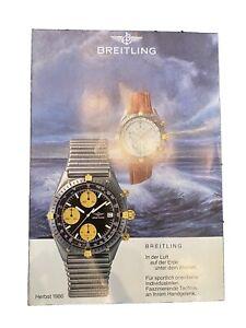 Uhrenkatalog der Marke Breitling aus Herbst 1986