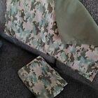 2 Digital Camouflage Camo Pillow Shams Green Pillowcases - Standard size