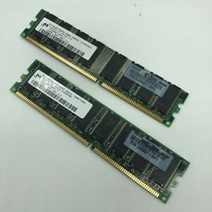 512MB Total HP 2x 256MB Memory #326667-041 PC3200 DDR 400 SDRAM CL3 Matched Pair