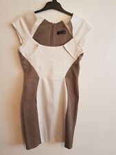 JANE NORMAN - Ladies Womens Girls Brown & White Evening Party Dress Size 12