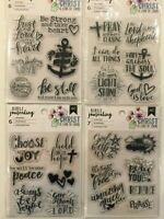 Bible Journaling Religious Stamps or Journal Stencils - Pick 1 of 4 Sets! NEW
