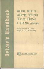 BMC WE K60 K100 K240 K300 & FF K100 K240 K300 Truck 1963 Original Handbook