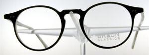 BRAUN CLASSICS 70 Brille Brillengestell Braun Beige Kunststoff Rund NEU