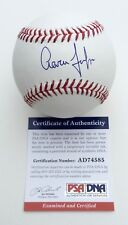 AARON JUDGE NEW YORK YANKEES SIGNED MAJOR LEAGUE BASEBALL PSA COA AD74585