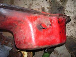 VINTAGE  MCCORMICK FARMALL  H  TRACTOR - ENGINE OIL PAN & CHECK VALVES - 1951