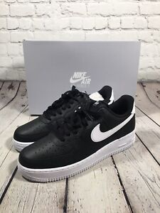 Nike Air Force 1 '07 Multiple Sizes Black White Leather Shoes CT2302-002