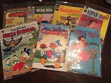 Whitman Comics Disney,Little Lulu, Bullwinkle, plus Richie rich, and more disney
