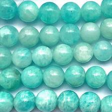 Russian Amazonite 8mm Round Semi Precious Stone Beads Q45 Beads per Strand