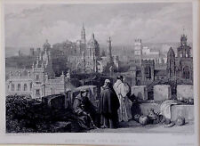 ANDALUCÍA, JERÉZ. grabado original de David Roberts, 1835