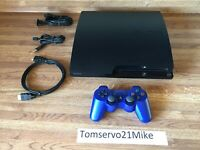 Sony PlayStation 3 PS3 Slim 250GB Game Console With Genuine Controller EXCELLENT