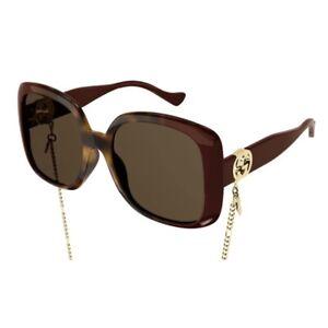 Occhiali da Sole Gucci GG1029SA 003 57-19-145 Donna havana burgundy lenti brown
