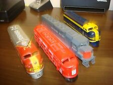LOT OF 4 ENGINE SHELLS LOCOMOTIVES HO SCALE PARTS OR JUNK -SOLD AS IS