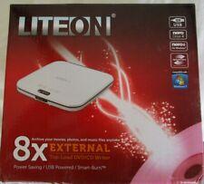 Liteon eTAU208-46-2 External top load 8x DVD-CD Writer/Burner~White