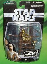 STAR WARS AOTC SAGA SERIES #042 C-3PO WITH EWOK THRONE BATTLE OF ENDOR FIGURE