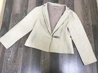 Annette Gortz Jacket Cardigan Gray Blazer Long Sleeve Size 42