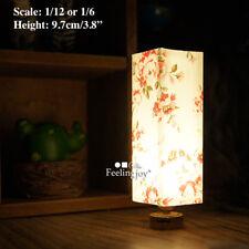 1/6 dollhouse Japanese style dummy rice paper shadow light retro bedroom lamp