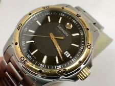 Movado Men Series 800 Gold Tone & Stainless Steel 40mm Quartz Watch,new Battery