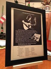 "FRAMED DAVE MASON ""IT'S LIKE YOU NEVER LEFT"" LP ALBUM CD PROMO AD w/ TOUR DATES!"