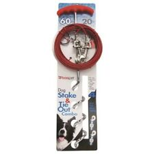 Boss Pet 01316 20' Large Dog Spiral Stake & Cable
