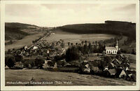 Scheibe-Alsbach Thüringen Thüringer Wald ~1940 Kirche Panorama Landschaft Kirche