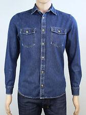 Burton mens size small blue denim long sleeve shirt