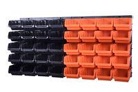 42 teiliges SET Lagersichtboxenwand Stapelboxen mit Montagewand Werkzeugwand