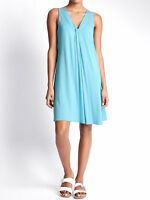 M&S COOL TURQUOISE COMFORT JERSEY DAY DRESS SLEEVELESS SIZE 8-18