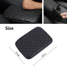 Black PU Leather Universal Car Armrest Box Cover Protector Anti-skid Wearproof