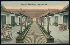 Postcard Long Beach Ca Bungalow Apts View 1910's