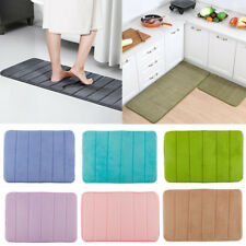 Soft Memory Foam Bath Mats Carpet Rug Absorbent Non Slip Bedroom Bathroom