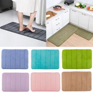 Soft Memory Foam Bath Mats Carpet Rug Absorbent Non Slips Bedroom Bathroom Pads