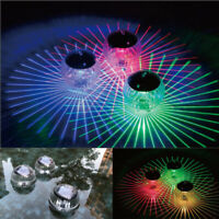 Outdoor Solar LED Floating Light Garden Pond Pool Lamp Rotating Color Change US