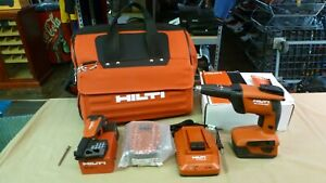 Hilti SD 4500-A22 Drywall Screwdriver 2 Batteries  CPC & Charger SD-M1 & Bag