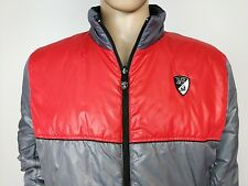 Tonino Lamborghini Reversible Jacket Puffer Quilted Coat Mens Size L Large Grey