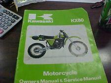 Kawasaki KX 80 C1-D1 Owner's Manual & Service Manual