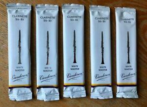 5 x Vandoren CR1625 German White Master Bb Clarinet Reeds (Strength 2.5)