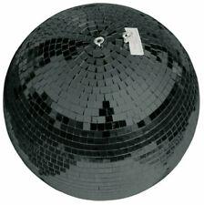 EUROLITE Spiegelkugel Discokugel Mirror Ball SCHWARZ BLACK 30 cm mit Kette