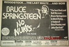 Bruce SPRINGSTEEN No Nukes 1981 UK Press ADVERT 12X8""