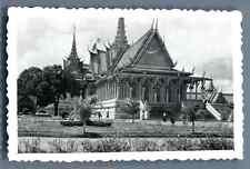 Cambodge, Phnom Penh, Palais Royal  Vintage silver print. Cambodia Tirage arge