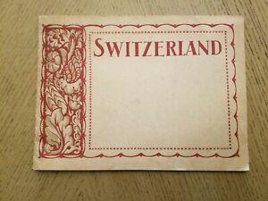 VINTAGE 1921 SNCF Swiss Federal Railways Switzerland Photo Tourist Book Oberland