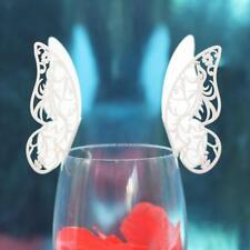 50x Segnabicchiere Farfalla Fenice Bomboniere Decorazioni Matrimonio -Bianco