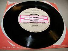 Jack Wagner All I Need / Tell Him That You Won't Go 45 VG+ Juke Box