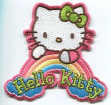 HELLO KITTY dream rainbow EMBROIDERED PATCH  **FREE SHIPPING** -c phk2