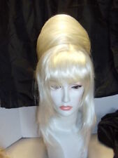 **WIG WIGS DRAG STRIKING FASHION WHITE BANGS UP-DO LADY