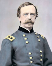 "UNION GENERAL DANIEL E SICKLES 1862 CIVIL WAR 8x10"" HAND COLOR TINTED PHOTOGRAPH"