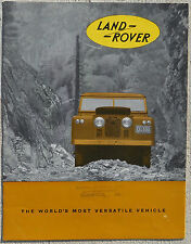 Land Rover early Duo-colour fold out brochure