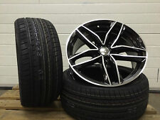 "4x 18"" ALLOY WHEELS BBS CH STYLE & TYRES FIT AUDI A3 A4 A6 TT BLACK EDITION"