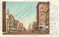 Tacoma Washington~Pacific Avenue~Shops~Business~Trolley~Wagon~1905